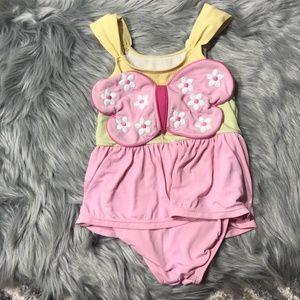 Gymboree 4T Butterfly 1 pc bathing suit